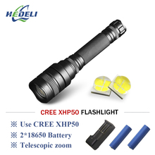 xhp50 Searchlight hunting flashlight recharge torch zoom powerful led 18650 camping lantern lampe torche