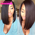 Grade 8A Unprocessed Virgin Hair Short Virgin Hair Weave Peruvian Virgin Hair Straight 4 Bundles Bob Hair Weave For Summer