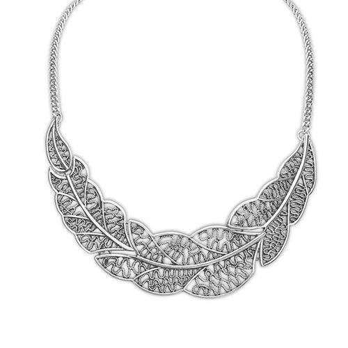 Hot Collier Femme femmes chaîne déclaration de Collier alliage de Zinc pendentif bijoux Collier N1193