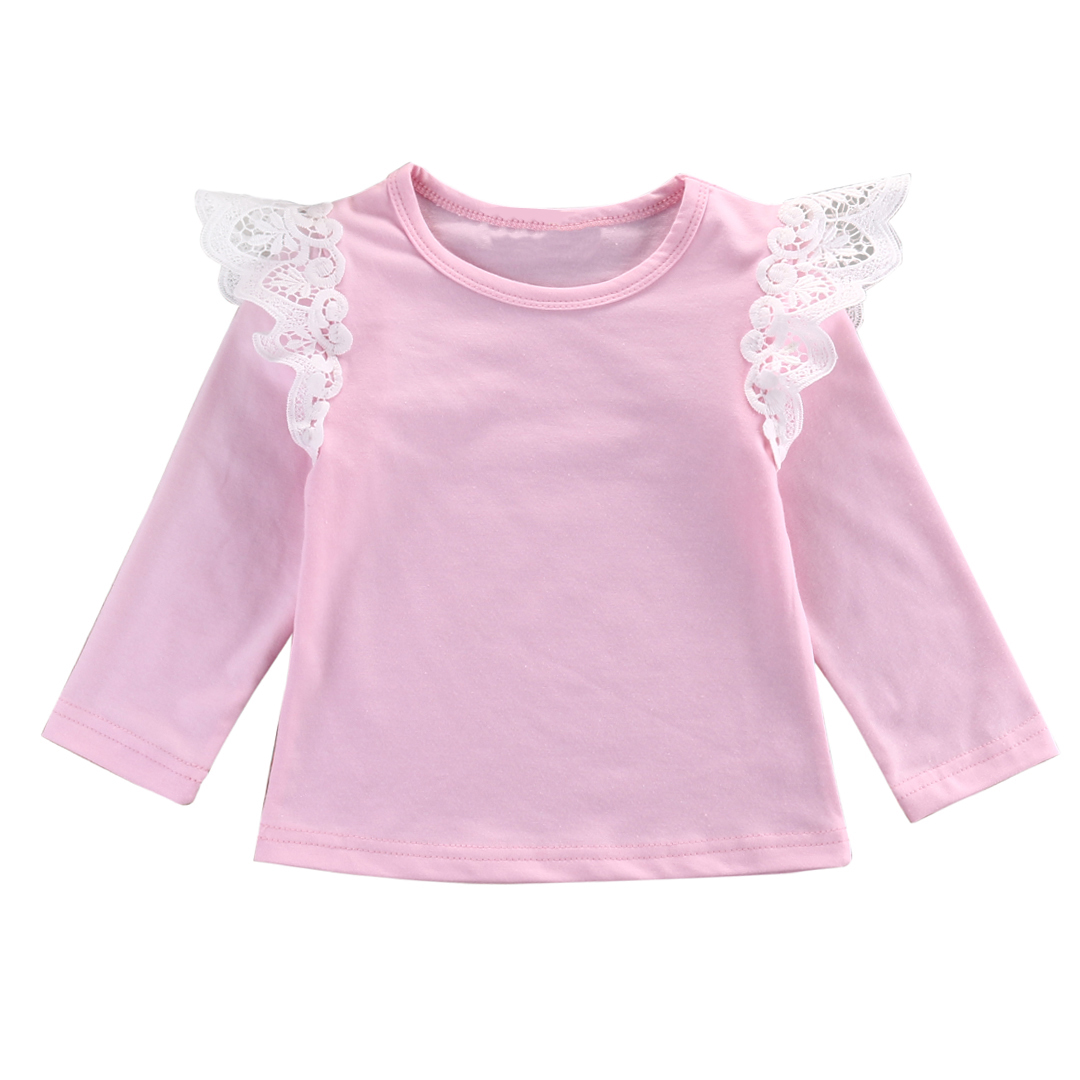 4 Colors Lace Tops Newborn Kids Girl Cotton Warm Shirts Blouse Cute Infant Baby Autumn Winter Clothes Princess Style Tops