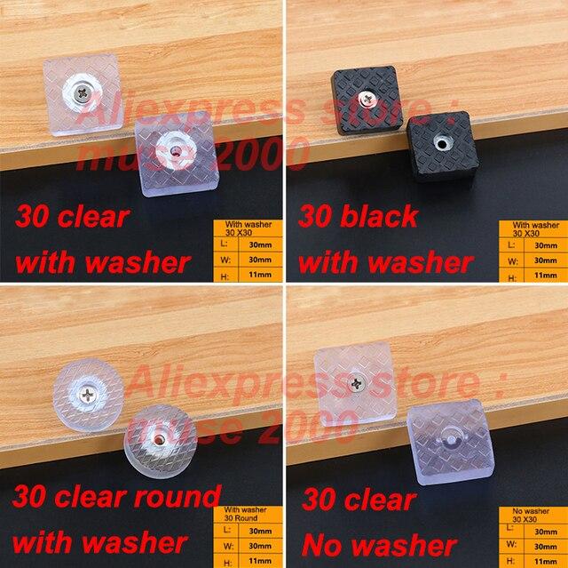 30x30mm Plastic Cabinet Feet Pad Buffer Damper Rubber Transparent Clear  Audio Foot Wood Moisture Wear Noise