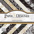 36sheets/lot Vintage Black Gold floral pattern creative papercraft art paper handmade scrapbooking kit set books