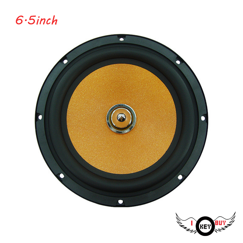 I Key Buy Brand New 40W 6.5-Inch Car Speakers Subwoofer Universall Full-Range Bass Loudspeaker Aluminum High Efficiency Sound image