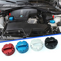 DSYCAR 1Set High Quality Car Styling For BMW Aluminum Engine Oil Filler Cap Fuel Fill Cover + Radiator cap 4 colors for choose
