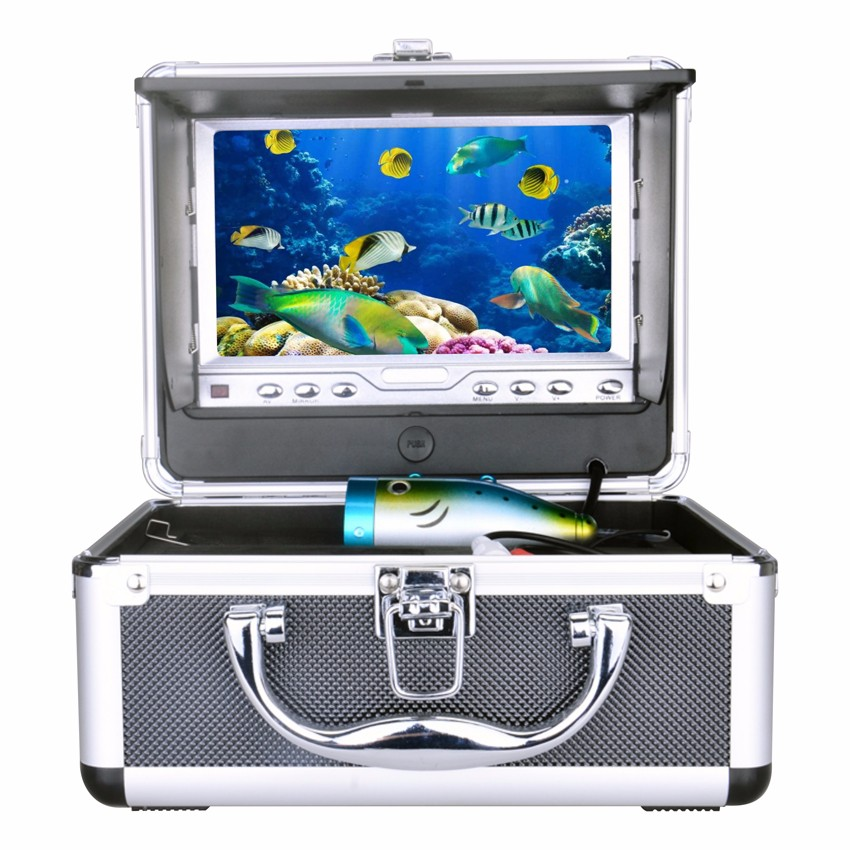 Delux Portable Kit Underwater Fishing Camera Video Fish Finder DVR 7 TFT LCD Monitor + HD 600TV Lines 15M Version Usage Time 7 tft lcd fishing camera kit fish finder hd 700tvl ccd sensor underwater video camera system night vision fishing video camera