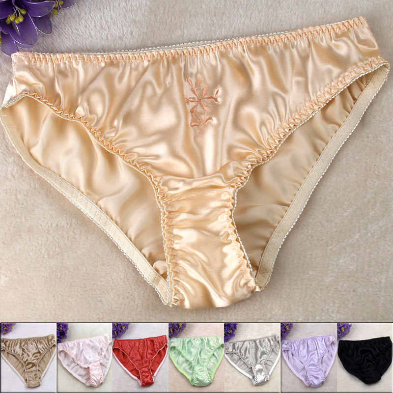 fe3d7fe7b598 Detail Feedback Questions about SALE! Pure silk Solid Panties Women ...