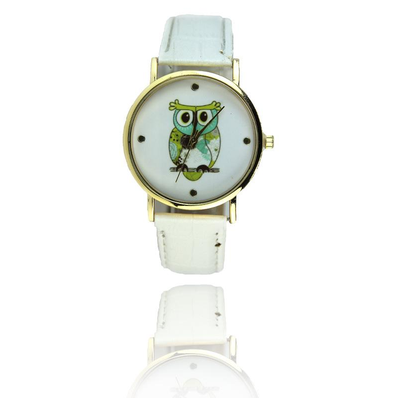 New Fashion Cartoon Casual Wrist Watch Quartz Watches For Women Mens Gift Owl Style Dress Gold Watch Women Clock