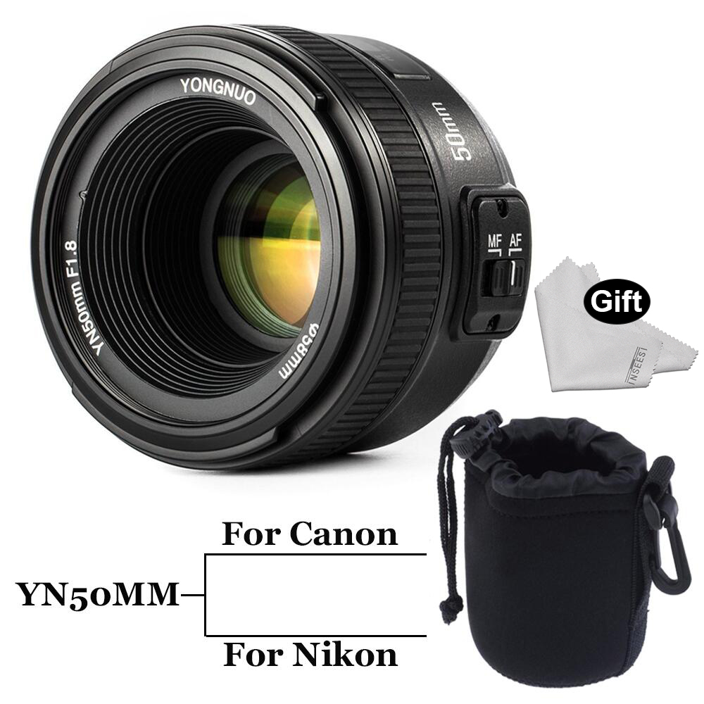 INSEESI Large Aperture YN50MM F/1.8 Standar Auto Focus Lens yn50mm AF/MF Lense for Canon EOS Or Nikon DSLR Camera 50mm f1.8 lens
