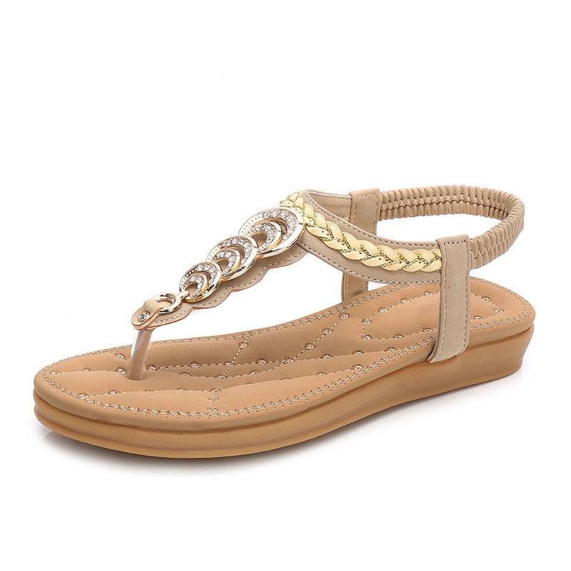 Free-Shipping-Size-35-41-New-National-Style-Double-Bottom-Comfortable-Flat-Boho-Female-Sandals-Women