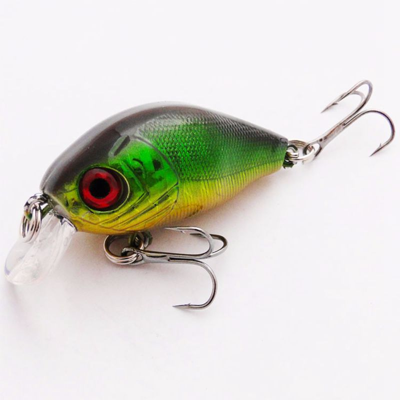 1 stk High Quality Japan Crank Fishing Lure Ferskvann Kunstig Bait Pesca Crankbaits Wobblers ABS Plastic Brand HOOK 55mm 7g