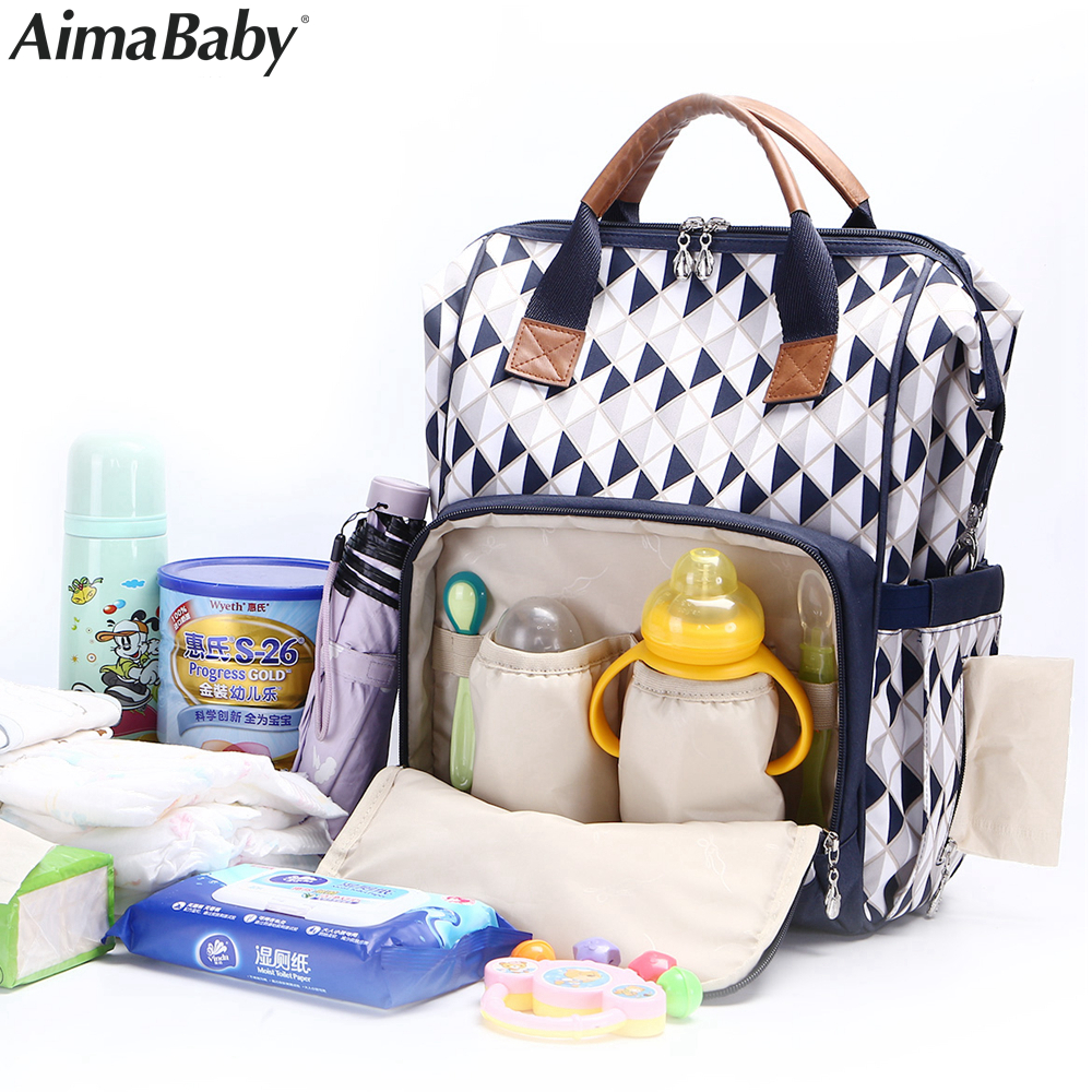 все цены на Luiertas Baby Travel Fashion Mummy Maternity Changing Diaper Nappy Stroller Bag Backpack Organizer Nursing bags mochila maternal