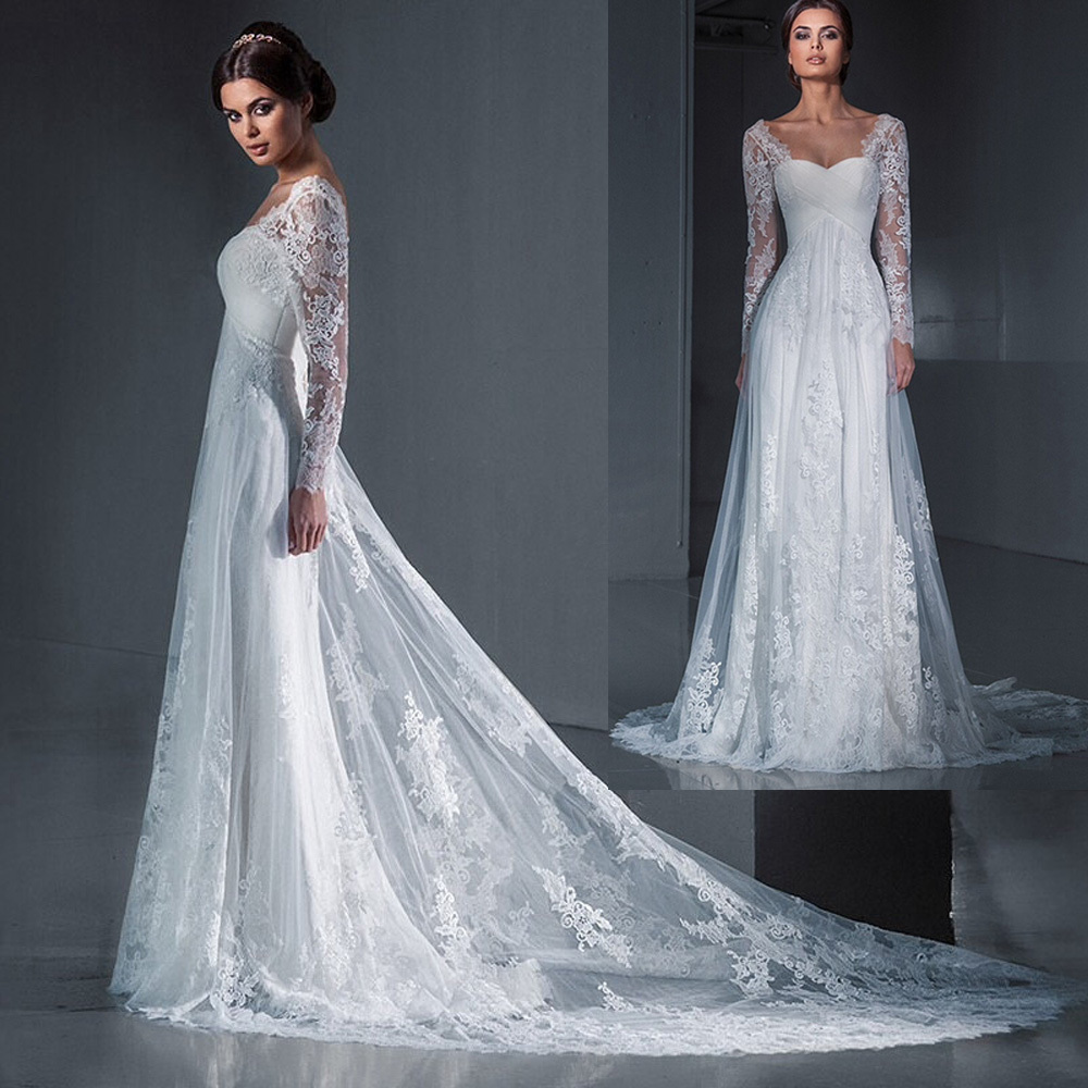 Attractive Cheap Long Sleeve Wedding Dresses Picture Collection ...