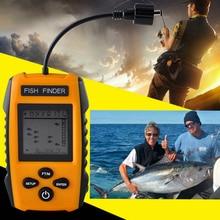 Эхолот портативный искатели рыбы эхолокационный сигнал рыболокаторы сенсор глубина finder преобразователя рыболокаторы Gph Поиск рыбы