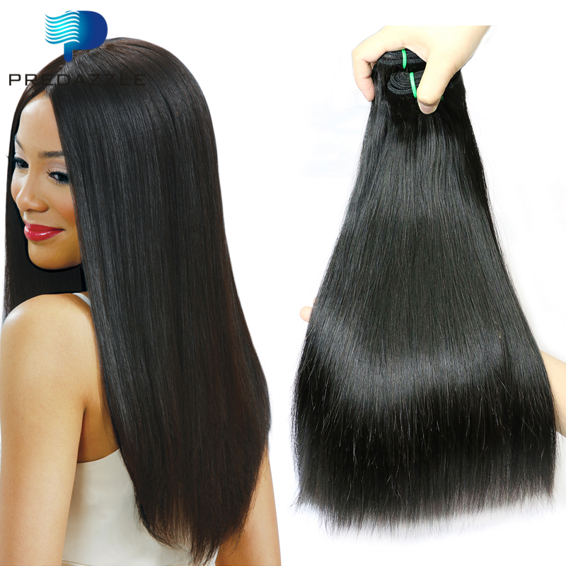 .4pcs T0P Hot Lady Hair Straight Bundle Deals Unprocessed Soft Silk Straight Weave Natural Black Peruvian Straight Virgin Hair