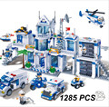 New  banbao 8353 Plastic ABS building blocks Police office model enlighten bricks Toys for children 1285 Pcs/set