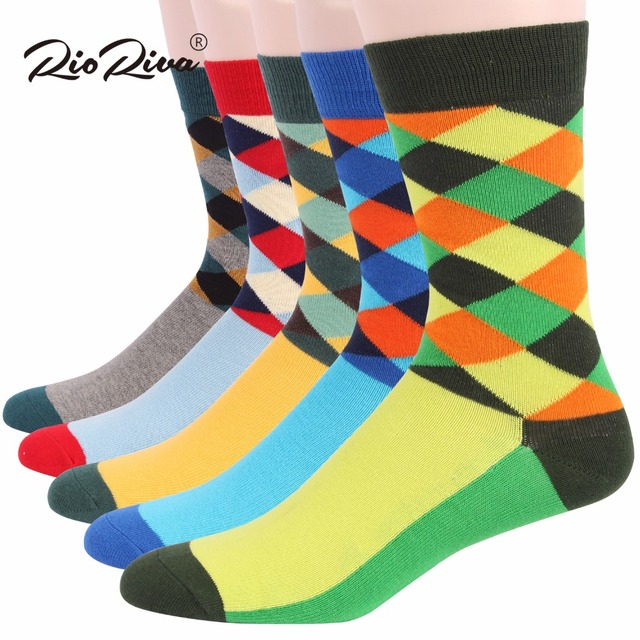 RioRiva Brand Men Formal Dress Socks