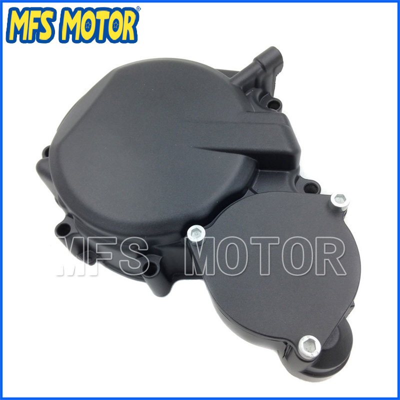 Freeshipping Motorcycle Parts Left Engine Stator cover For Suzuki GSXR600/750 2008 2009 BLACK jiangdong engine parts for tractor the set of fuel pump repair kit for engine jd495
