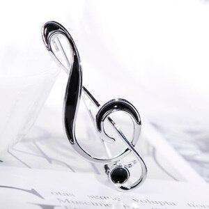 FUNMOR, простая музыкальная в форме ноты брошь золотого цвета, черная эмалированная брошка для женщин и мужчин, концертные украшения, штырьки для лацкана, подарки