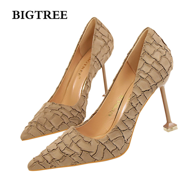 5cdd950c1b Aliexpress.com : Buy high heel sexy pumps women shoes Vintage women's shoes  with high heeled, suede, stone like sex clubs red black pink green gray ...