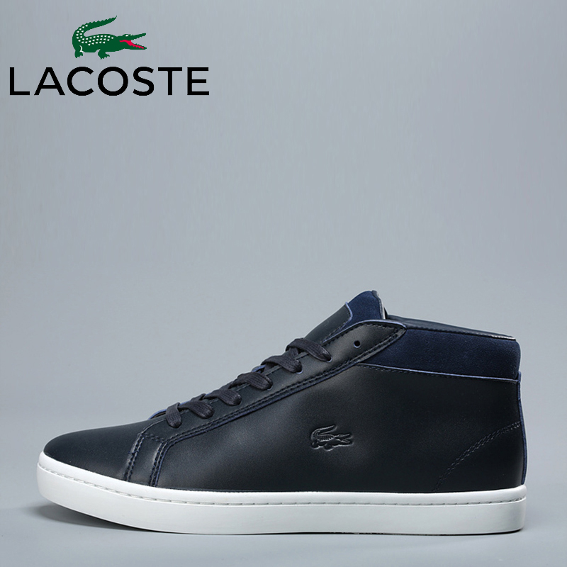 revendeur 4aef7 6cdd7 2019 Lacoste Men Outdoor High Top Skateboarding Shoes Men Breathable Male  Walking Sports Shoes Soft Boarding Shoes Sneakers