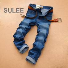 Jussara Lee Men's Fashion Jeans Cotton Men Jeans High Quality Straight Denim Jeans Men Casual Brand Mens Jeans Size 38 40 2065