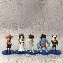 Robe de mariée au trésor Luffy, personnage de dessin animé One Piece, robe de nuit, Boa Hancock, Ace Panda, WCF, Collection d'action en PVC, modèle poupée jouet