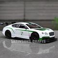 1:32 DIECAST MODEL CAR TOY SOUND LIGHT PULL BACK BENTLEY CONTINENTAL GT3 REPLICA