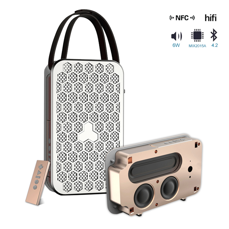 NFC Mini Altavoz Bluetooth HIFI-luidsprekers Ondersteuning TF-kaart - Draagbare audio en video