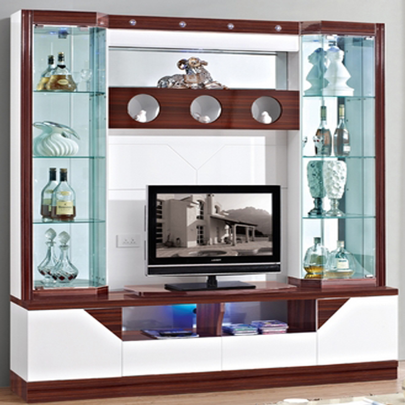 Wine cooler modern brief fashion glass cabinet office - Glass display units for living room ...