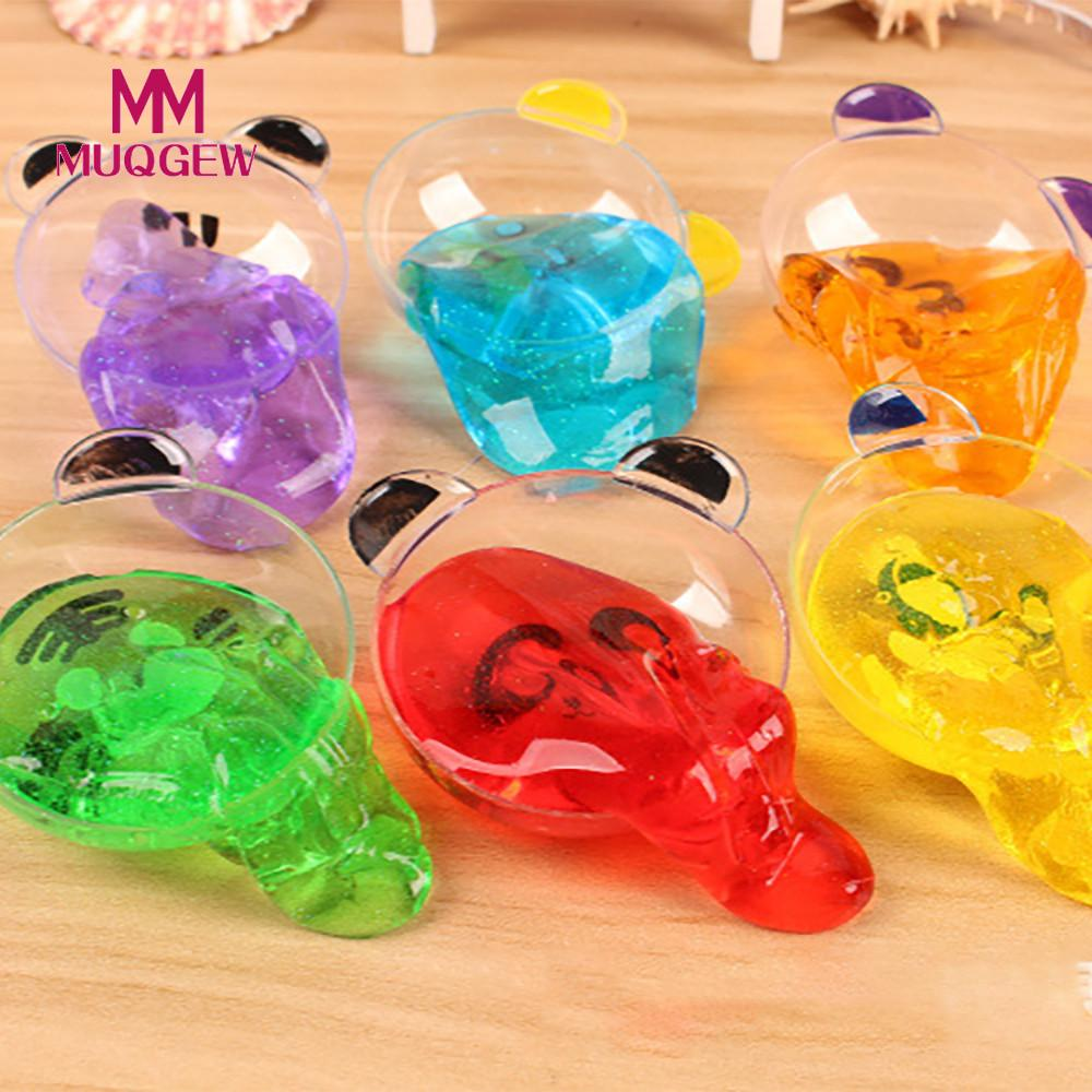 MUQGEW Brand Clay Slime DIY Crystal Mud Play Transparent Magic Plasticine Kid Toys Relieves Stress Anxiety Toy for Child Adult