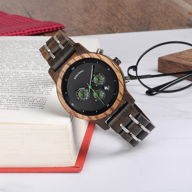 BOBO BIRD Women Watches Luxury Chronograph Date Quartz Watch Luxury Versatile Ladies Wooden Timepieces Accept Logo Drop Shipping 3