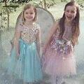 Европейский Стиль Блестками Платья Принцессы 3D Цветочные Детская Одежда Детские Платья Случайные Девушки Платья