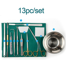 13pc/set Nasal plastic surgery instrument set Nasal bone chisel stainless steel Cosmetic and plastic surgery biomedical instrument and robotic surgery system