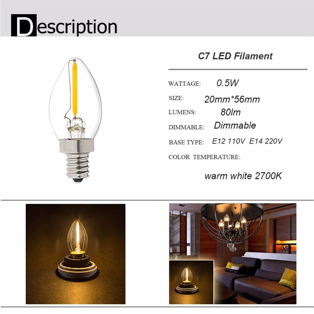 Grensk T20 Led Filament Bulb G9 Led 1w 2w E12 E14 110v 220v Warm 2200k Warm White 2700k Dimmable Chandelier Led Vintage Lights Lights & Lighting