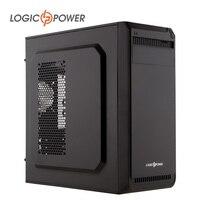 LOGIC POWER Desktop Computer Case New Arrivals 80mm FAN USBx2 SSDx2 HDDx2 CD ROMx1 PCIx7 AUDIO