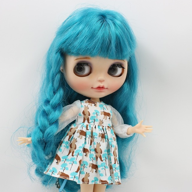 Neo Blythe Doll Bear Dress With Headdress