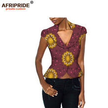 New African clothing fashion jacket for women sexy style african femme coat casual bazin riche print cotton wax plus sizeA722302