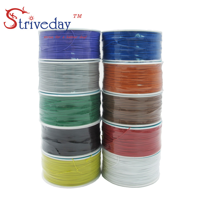 250m 30awg single core copper wire OK line circuit board flying line PCB jumper electronic wire welding cable цена