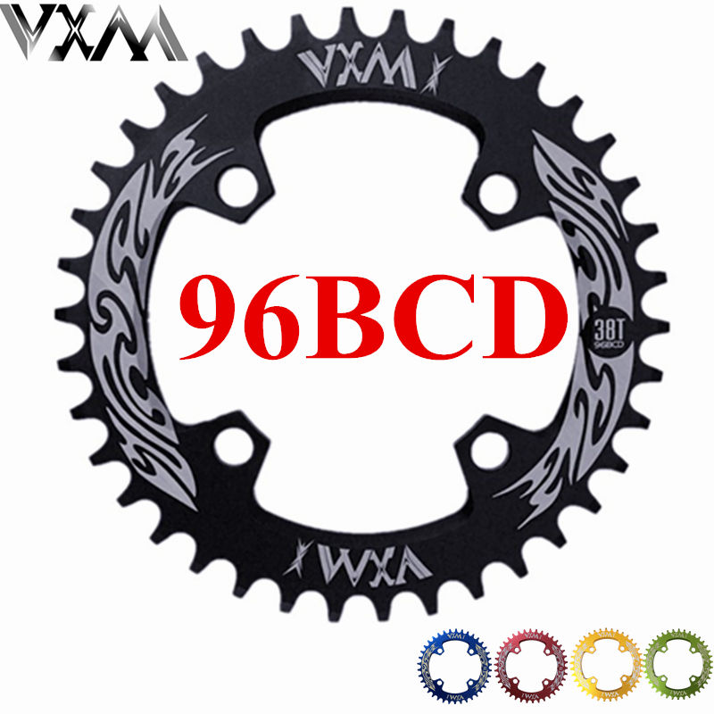 VXM Bicycle Crank&Chainwheel 96BCD 32T/34T/36T/38T Round Narrow Wide Chainring MTB Road Bike Crankset Chainwheel Bicycle Parts