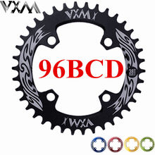 VXM Bicycle Crank&Chainwheel 96BCD 32T/34T/36T/38T Round Narrow Wide Chain ring MTB Road Bike Crankset Chainwheel Parts