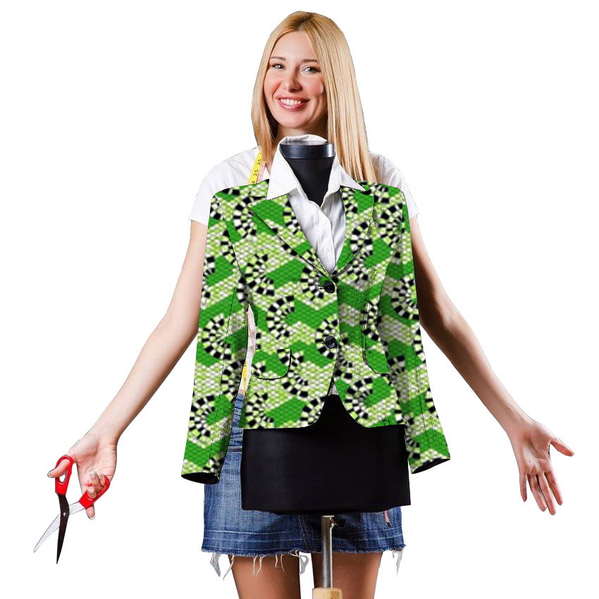 2018 Spring African Women Clothing Fashion Women Suits Blazer Office Wear Jacquard Print Suit Jackets Casual Women Blazers