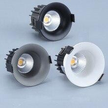 Dimmable Led Anti glare downlight COB Spot Light Bulb 5w 7w 10w 110V 230V 240V LED Lamp ceiling recessed Lights Indoor Lighting