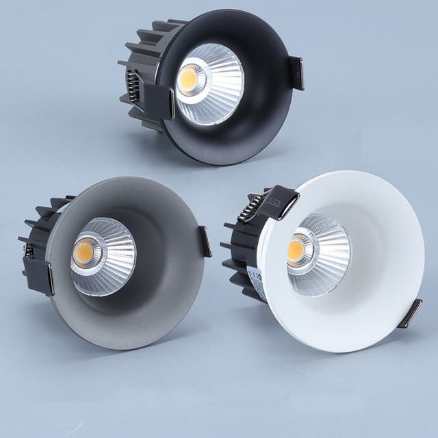Dimmable Led Anti glare downlight COB Spot Light Bulb 5w 7w 10w 110V 230V 240V LED Lamp ceiling recessed Lights Indoor Lighting