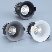 Led Anti Glare Downlight COBจุดหลอดไฟ5W 7W 10W 110V 230V 240VหลอดไฟLEDเพดานไฟในร่ม