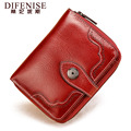 Luxury Brand Womens Wallets European and American Style Genuine Leather Wallet Short Female cow purses coin holder hasp designer