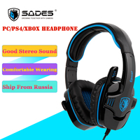 SADES GPOWER Stereo Sound Entry Level Gaming Headset Headphone With Omnidirectional Microphone Applicable To PC