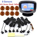 factory price Car Parking Sensors 8 sensors Front Rear View Reverse Backup Radar Kit System LCD Display Monitor 44 colors