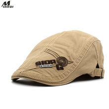 Minhui 2018 New Fashion Letters Caps Men Embroidery Beret Fl
