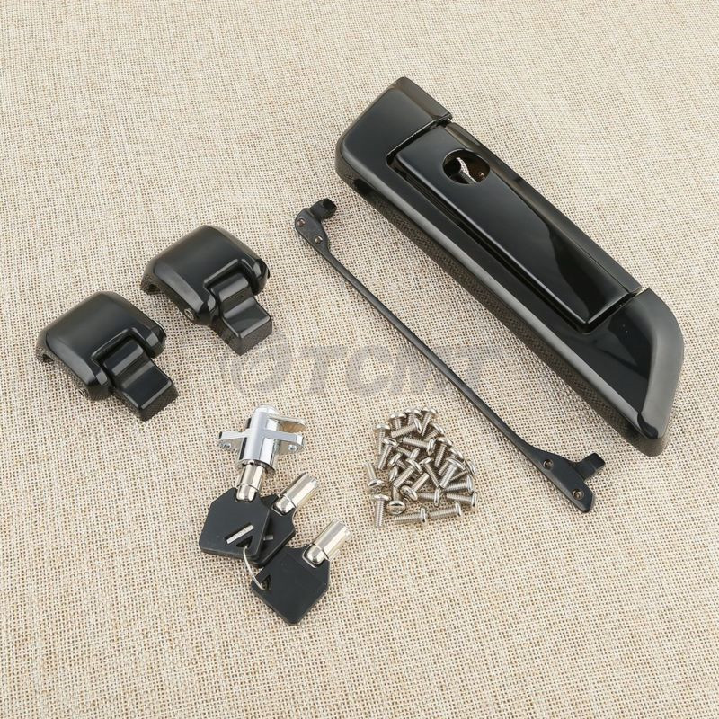 Motorcycle Tour Pak Pack Trunk Latch For Harley Touring Road King Street Road Glide Electra Glide FLHT 2014-2018 Black Chrome