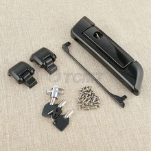 Motorcycle Tour Pak Pack Trunk Latch For Harley Touring Road King Street Road Glide Electra Glide FLHT 2014-2018 Black Chrome razor tour pak pack trunk for harley touring road king electra glide 2014 2018 motorcycle